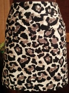 Ann Taylor Loft Animal Print Skirt